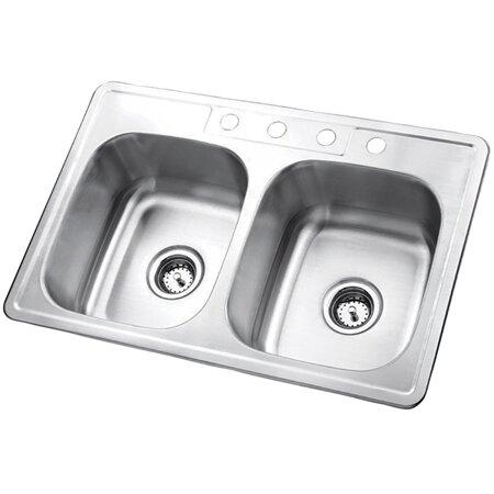 Stainless Steel 31 L X 18 W Undermount Kitchen Sink With
