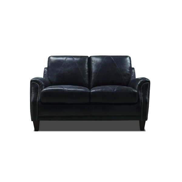 Anya Leather Loveseat by Williston Forge