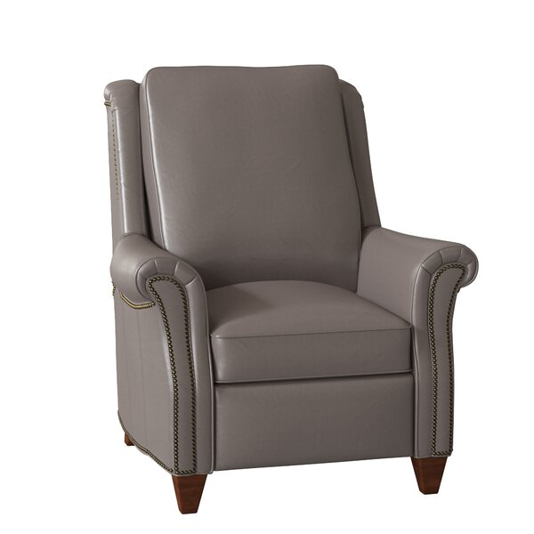 Reinsman Leather Power Manual Recliner By Bradington-Young