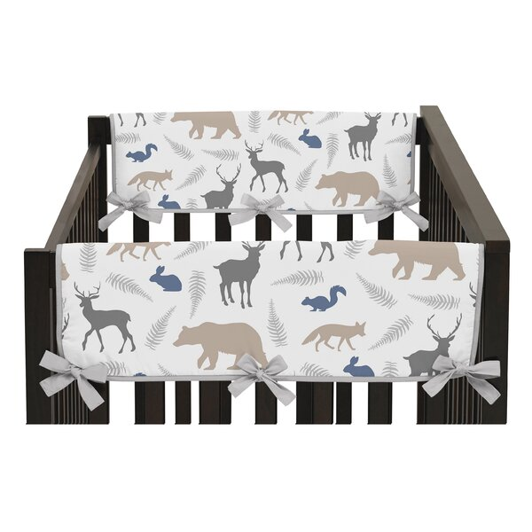 Woodland Animals Side Crib Rail Guard Cover (Set of 2) by Sweet Jojo Designs