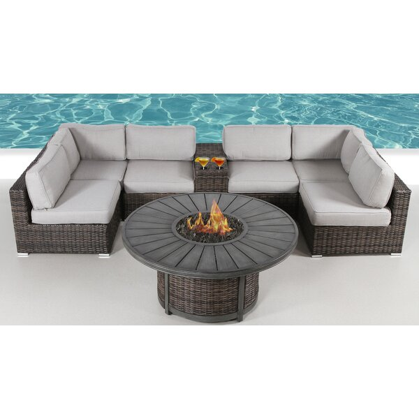Carthage 8 Piece Rattan Sectional Seating Group by Sol 72 Outdoor
