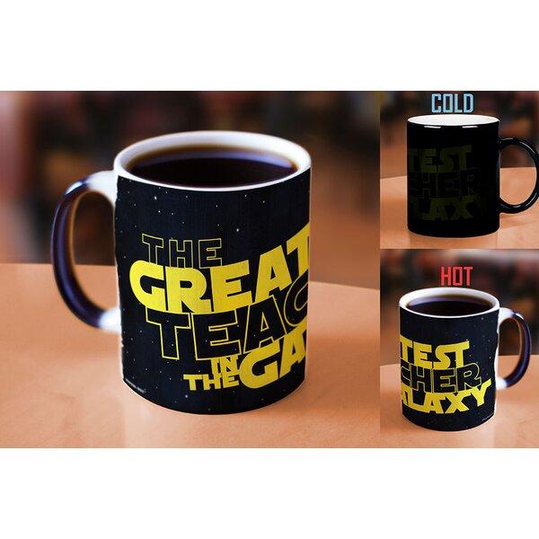 Emlenton The Greatest Teacher in the Galaxy Heat Reveal Ceramic Coffee Mug by Latitude Run
