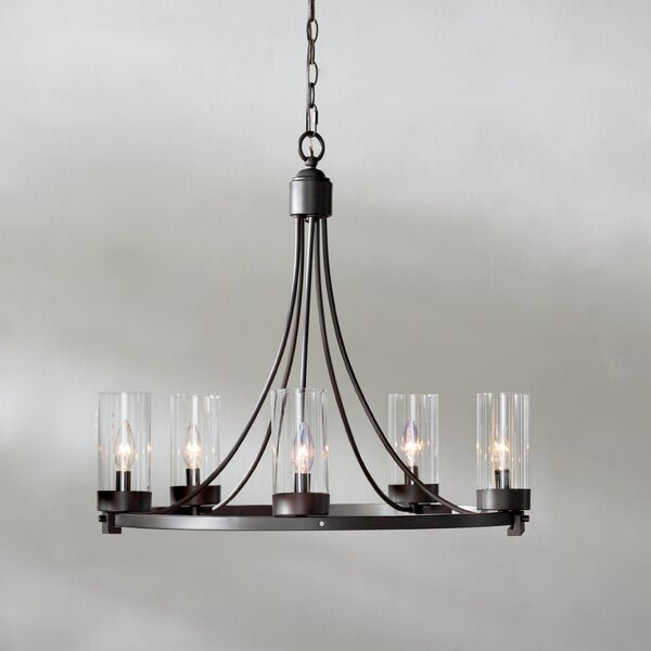 Agave 5-Light Wagon Wheel Chandelier by Laurel Foundry Modern Farmhouse