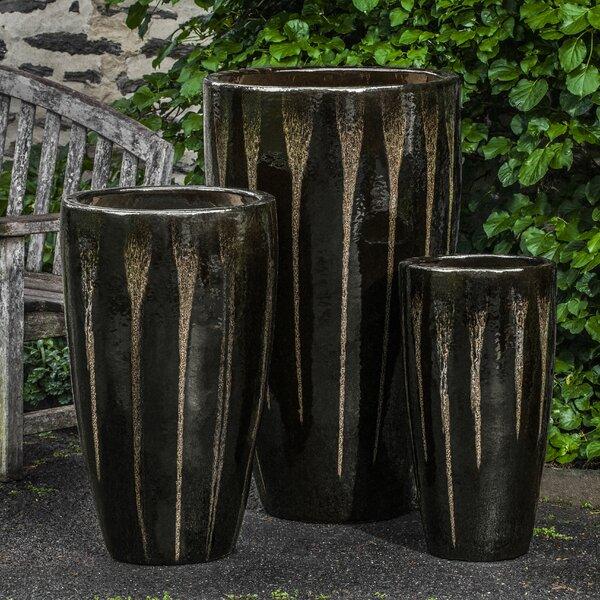 Amani 3 Pieces Terra Cotta Pot Planter Set by Bloomsbury Market