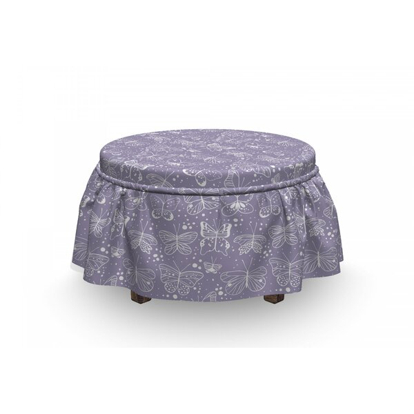 Springtime Thrill Pastel Ottoman Slipcover (Set Of 2) By East Urban Home