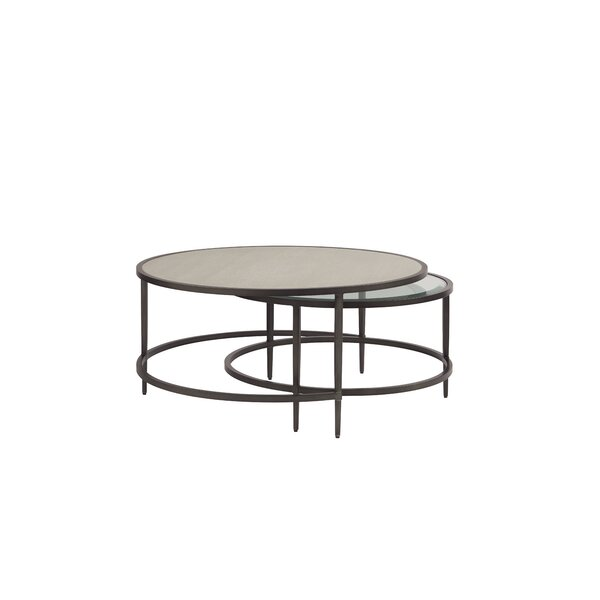 Johnathan Coffee Table With Nested Stool By Gracie Oaks