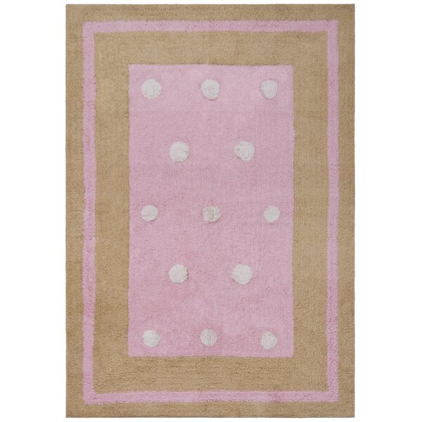 Carousel Pink Border Dots Area Rug by St. Croix