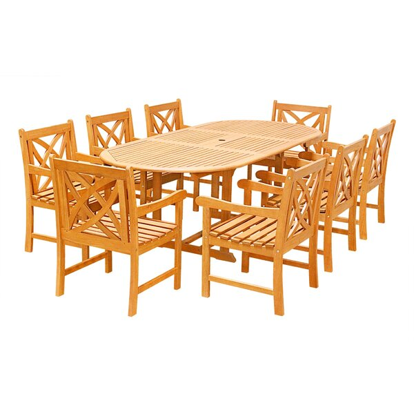 Maybeck 9 Piece Dining Set by Rosecliff Heights
