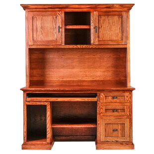 Affordable Torin Executive Desk with Hutch By Millwood Pines