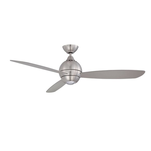 52 Sphere 3 Blade LED Ceiling Fan with Remote by Kendal Lighting