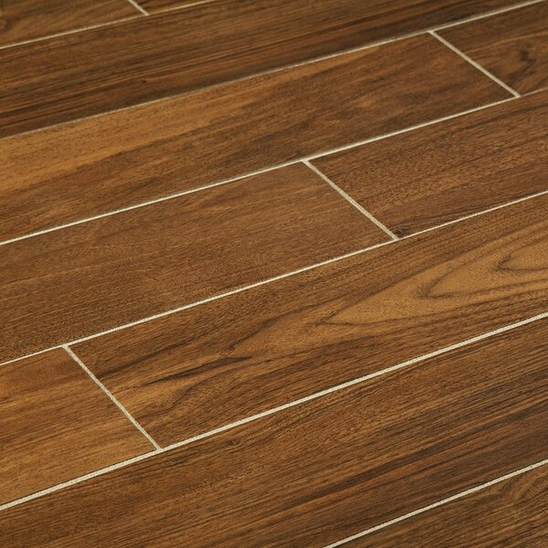 6 x 36 Porcelain Wood Look Tile in Gunstock by Man