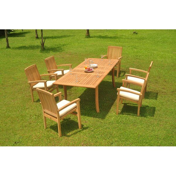 Fred 7 Piece Teak Dining Set by Rosecliff Heights