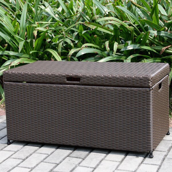 70 Gallon Wicker Deck Box by Jeco Inc.