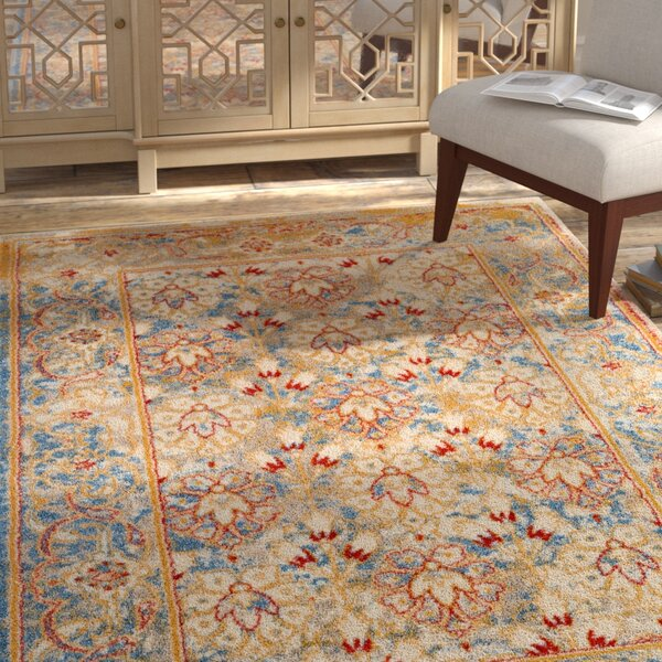 Parrett Transitional Ivory Area Rug by Bloomsbury Market
