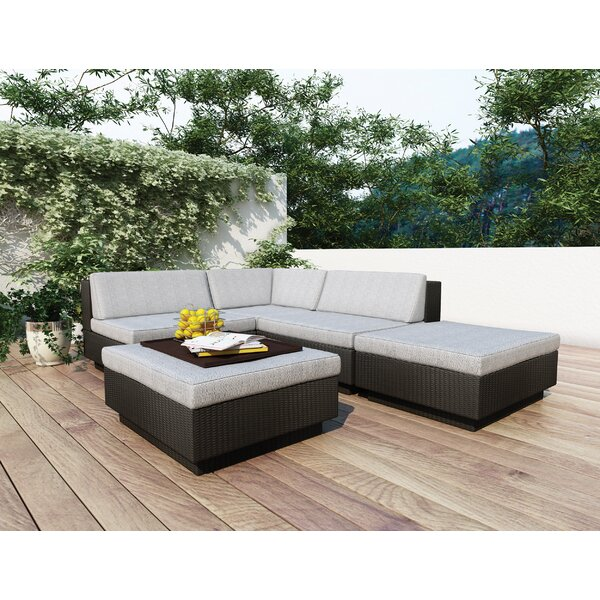 Park Terrace 5 Piece Sectional Set with Cushions by dCOR design