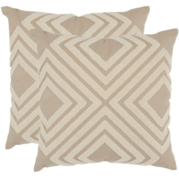 Stella Cotton Throw Pillow (Set of 2) by Union Rustic