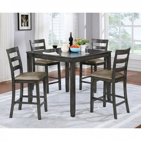 Dull Counter Height 5 Piece Pub Table Set by Gracie Oaks