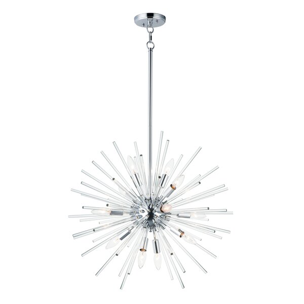 Stanfield 12 - Light Sputnik Sphere Chandelier with Wrought Iron Accents by Ivy Bronx Ivy Bronx