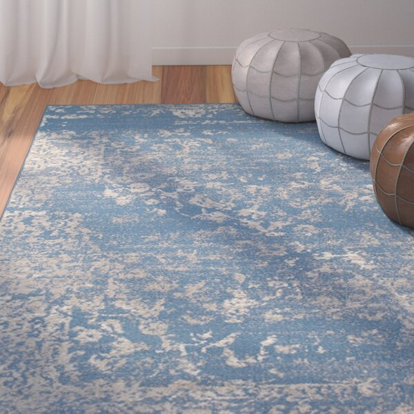Fayme Blue/Beige Area Rug by World Menagerie