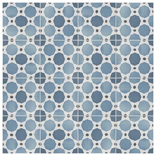 Grotta 7.88 x 7.88 Porcelain Field Tile in Sapphire/Beige by EliteTile