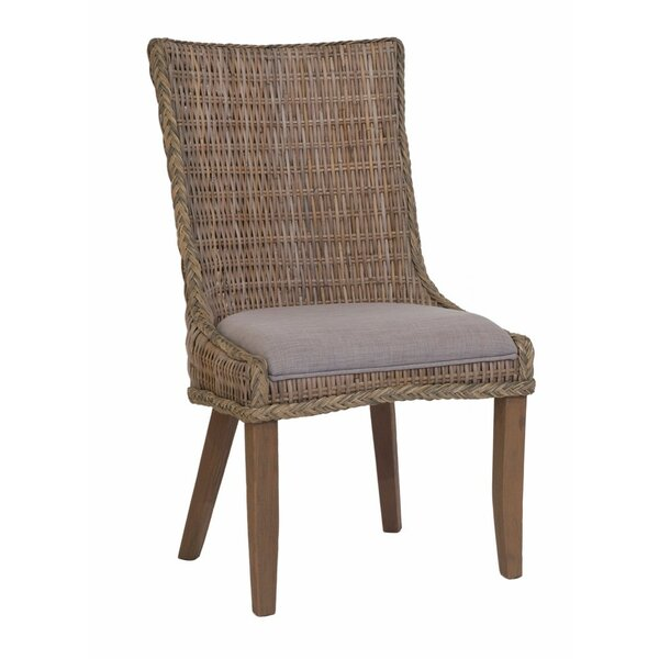 Southchase Wicker Woven Upholstered Dining Chair (Set of 2) by Rosecliff Heights
