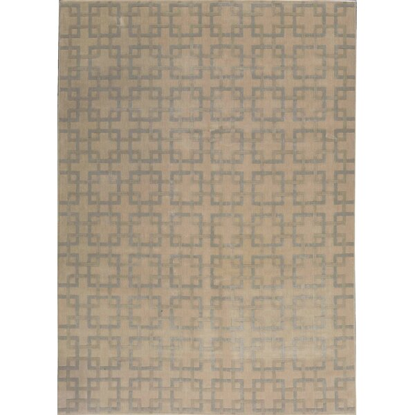 One-of-a-Kind Handwoven 8' x 11' Wool Taupe Area Rug by Bokara Rug Co., Inc.