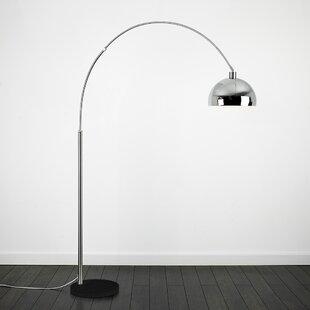 Silverchrome floor lamps wayfair curva 200cm arched floor lamp aloadofball Choice Image