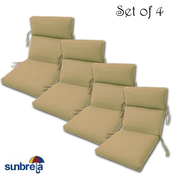 Indoor/Outdoor Sunbrella Chair Cushion (Set of 4) by Comfort Classics Inc.