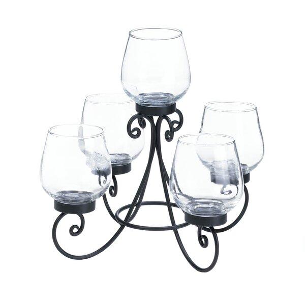 Enlightened Centerpiece Glass Candelabra by Fleur De Lis Living