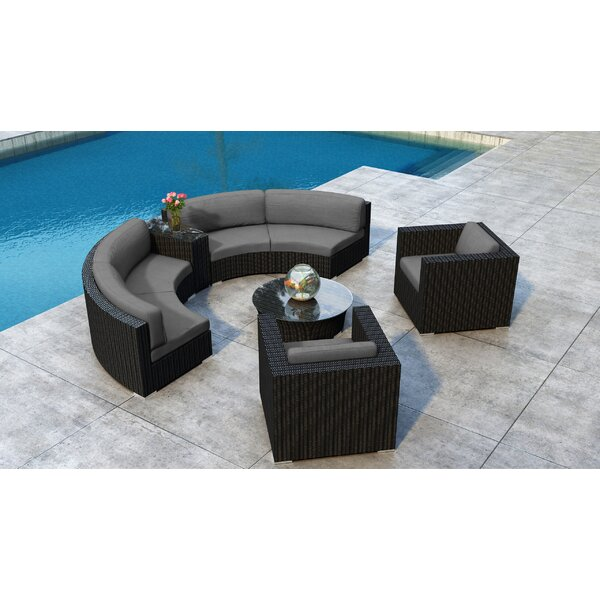 Glendale 6 Piece Sectional Seating Group with Sunbrella Cushion by Everly Quinn Everly Quinn