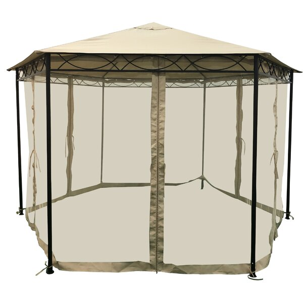 Joyce 10.5 Ft. W X 10.5 Ft. D Steel Gazebo by Home Loft Concepts