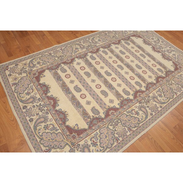 One-of-a-Kind Iorio Hand-Knotted Wool Beige Area Rug by Astoria Grand