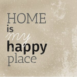 'Happy Place I' by IHD Studio Textual Art on Wrapped Canvas by Portfolio Canvas Decor