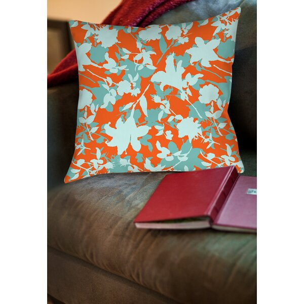 Chloe Floral 5 Printed Throw Pillow by Manual Woodworkers & Weavers