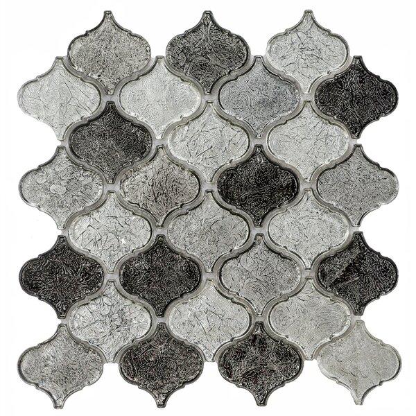 Mini Lantern 11.81 x 12.2 Glass Mosaic Tile in Gray by Byzantin Mosaic