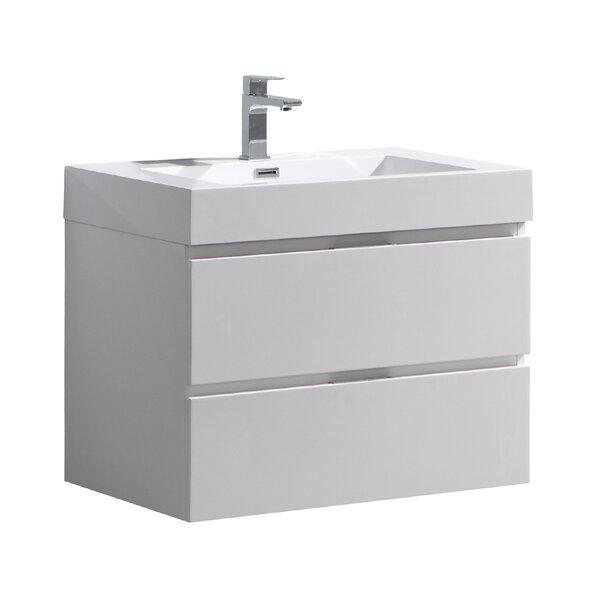 Senza Valencia 30 Wall Mounted Single Bathroom Vanity Set by Fresca