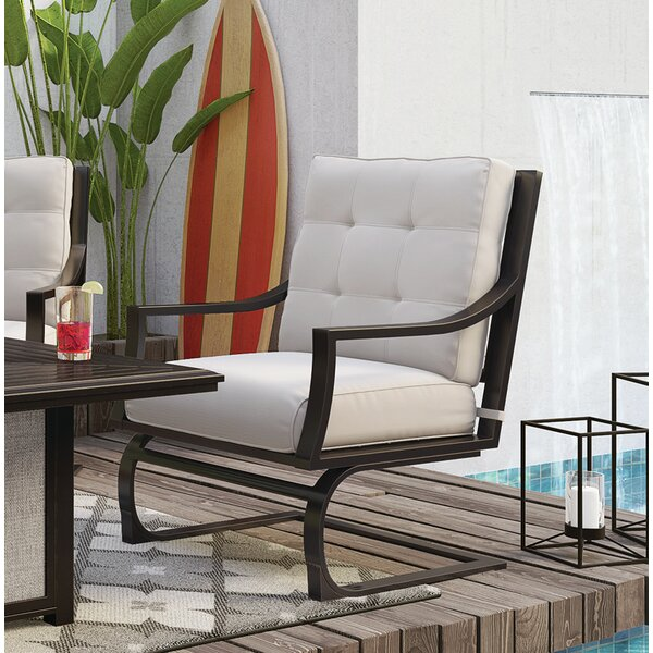 Topps Patio Chair with Cushions (Set of 4) by Canora Grey