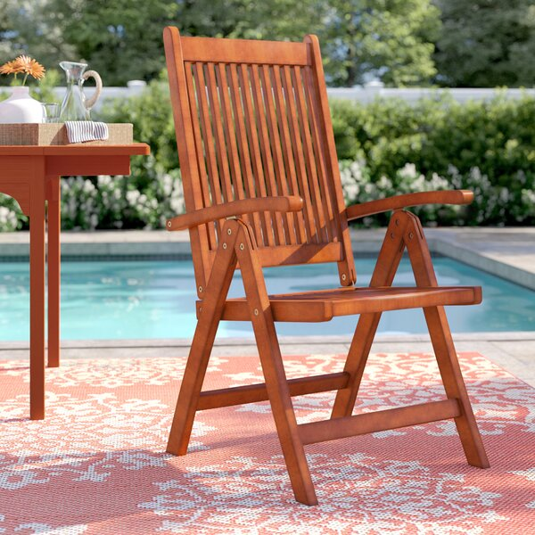 Amabel Folding Patio Dining Chair by Beachcrest Home Beachcrest Home