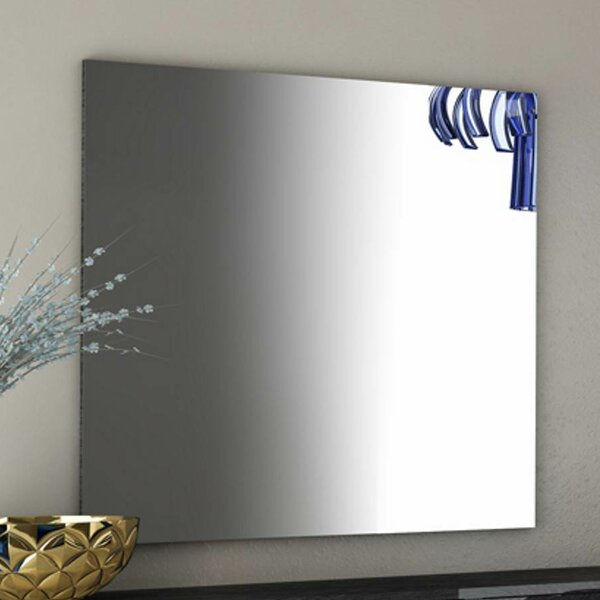 Salerno Rectangle Grey Wall Mirror by Brayden Studio
