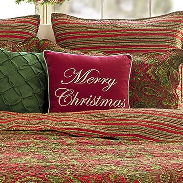 Reynal Merry Christmas Throw Pillow by Darby Home Co