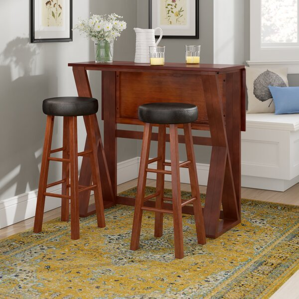 Brayan 3 Piece Pub Table Set by Latitude Run