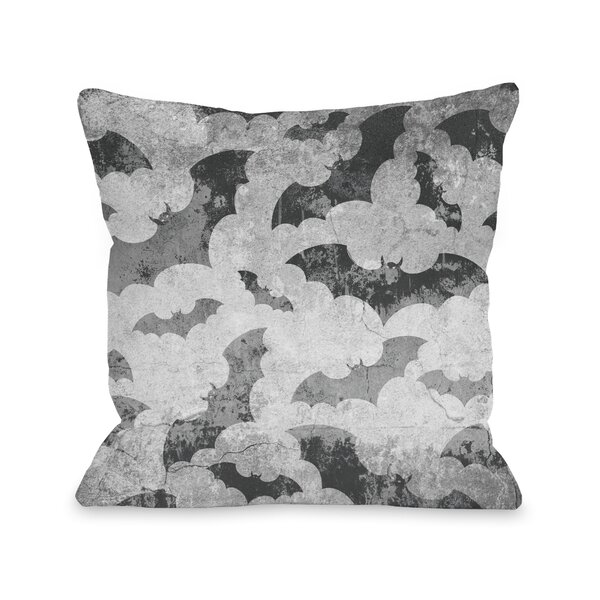 Flying Bats Throw Pillow by One Bella Casa