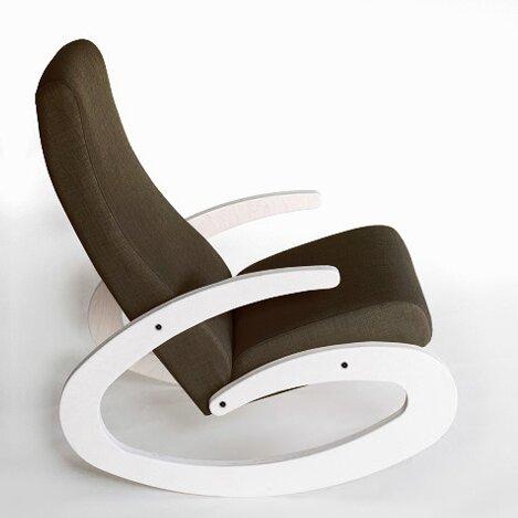 Schaukelstuhl Lamont Ebern Designs Farbe (Standfüße): Weiß| Farbe (Stoff): Braun | Wohnzimmer > Stüle | Ebern Designs
