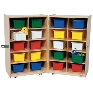 Inexpensive Folding Vertical Storage 20 Compartment Cubby with Trays ByWood Designs