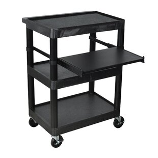 Sit Down AV Cart with Middle Shelf