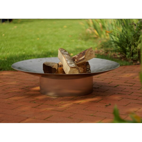 Gile Stainless Steel Wood Burning Fire Pit by Curonian