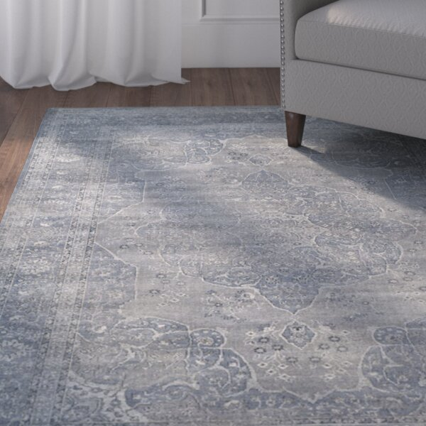 Frith Light Blue / Light Gray Area Rug by Charlton Home