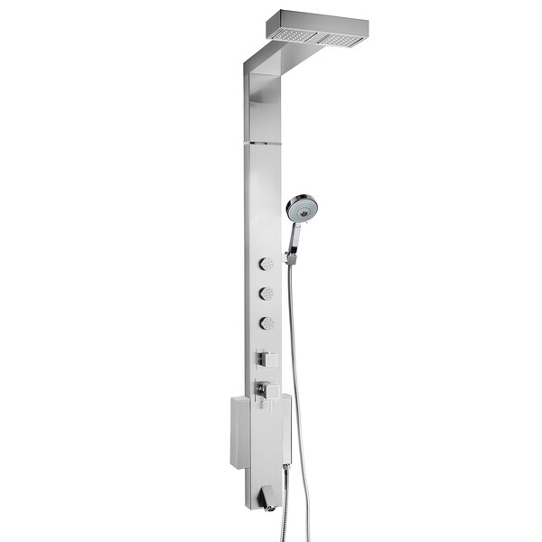 Tower Shower System with Rainfall Shower Head Height Adjustment Hand Shower - Valve Included by AKDY