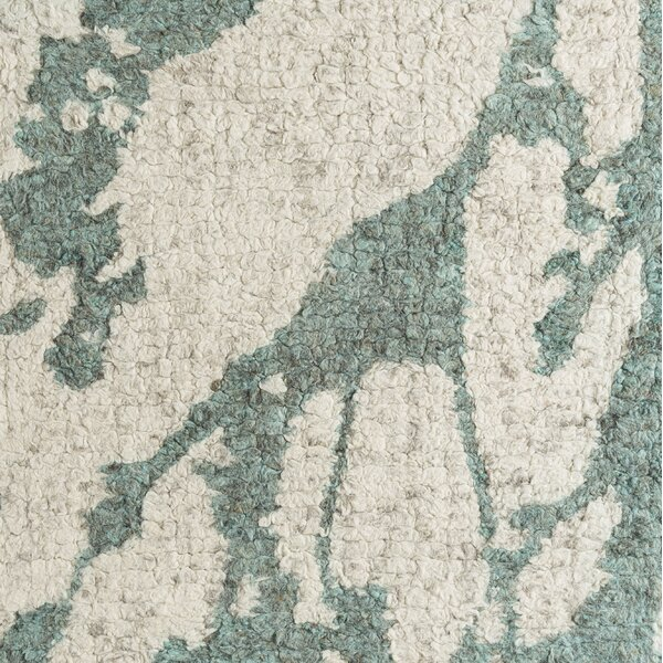 Jewel Hand-Tufted Cream/ Mint Green Area Rug by Latitude Run