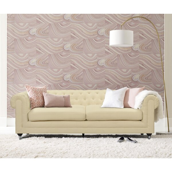 Amery Tufted Chesterfield Sofa by Elle Decor
